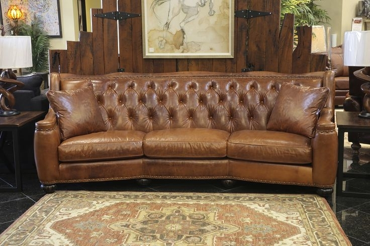 Full Grain Leather Sofas Regarding Preferred Full Grain Leather Sofa Treat Your Living Room To This High (View 6 of 10)
