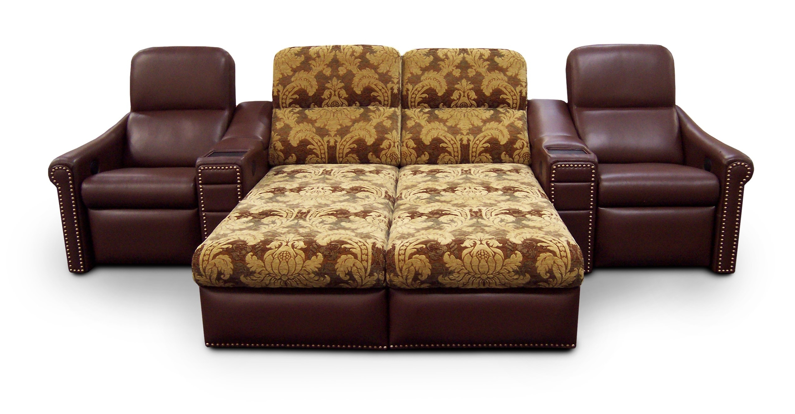 Funiture: Sleeper Sofa Ideas For Living Room Using Brown Leather In Fashionable Chaise Lounge Sleeper Sofas (View 6 of 15)