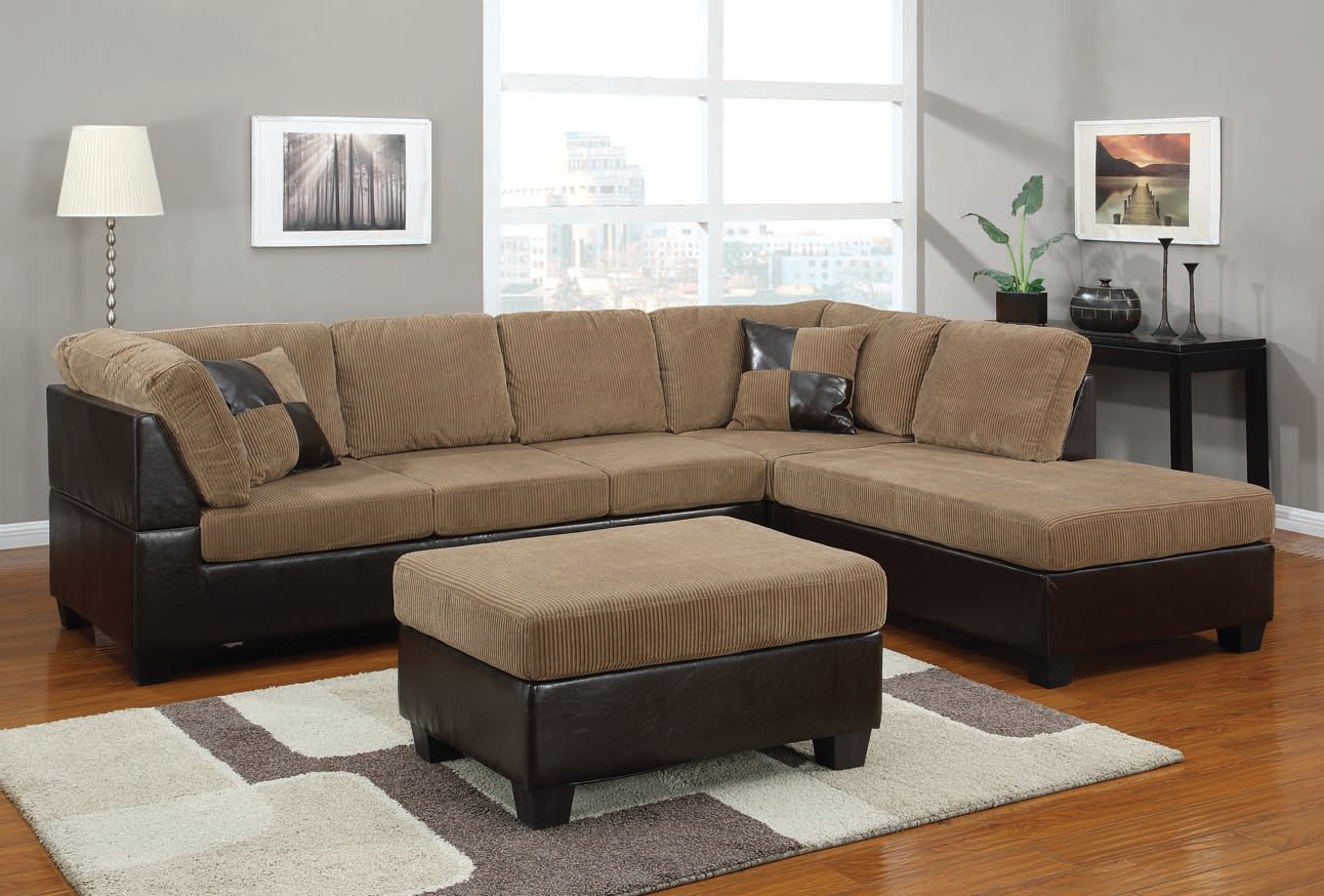 Furniture: Charming Sectionals Sofas For Living Room Furniture Within Widely Used Brown Sectionals With Chaise (View 7 of 15)