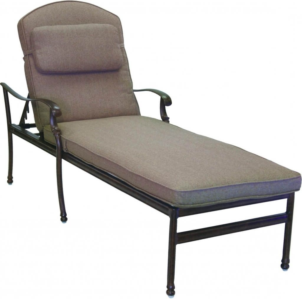 Furniture: Dazzling Cast Aluminum Extra Long Outdoor Chaise Lounge For  Preferred Outdoor Cast Aluminum Chaise
