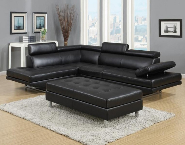 Furniture Distribution Center Regarding Most Current Black Leather Sectionals With Ottoman (View 7 of 10)