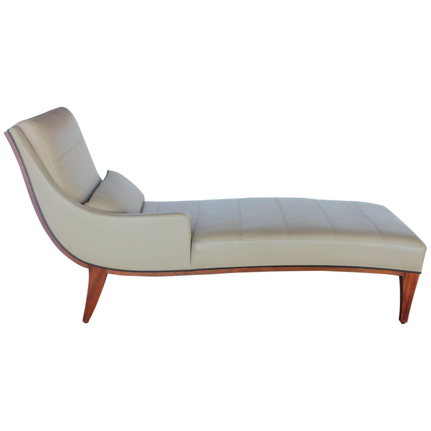 Furniture: Modern Leather Chaise Loungewiddicomb At 1Stdibs Regarding Well Known Modern Chaise Lounges (View 9 of 15)