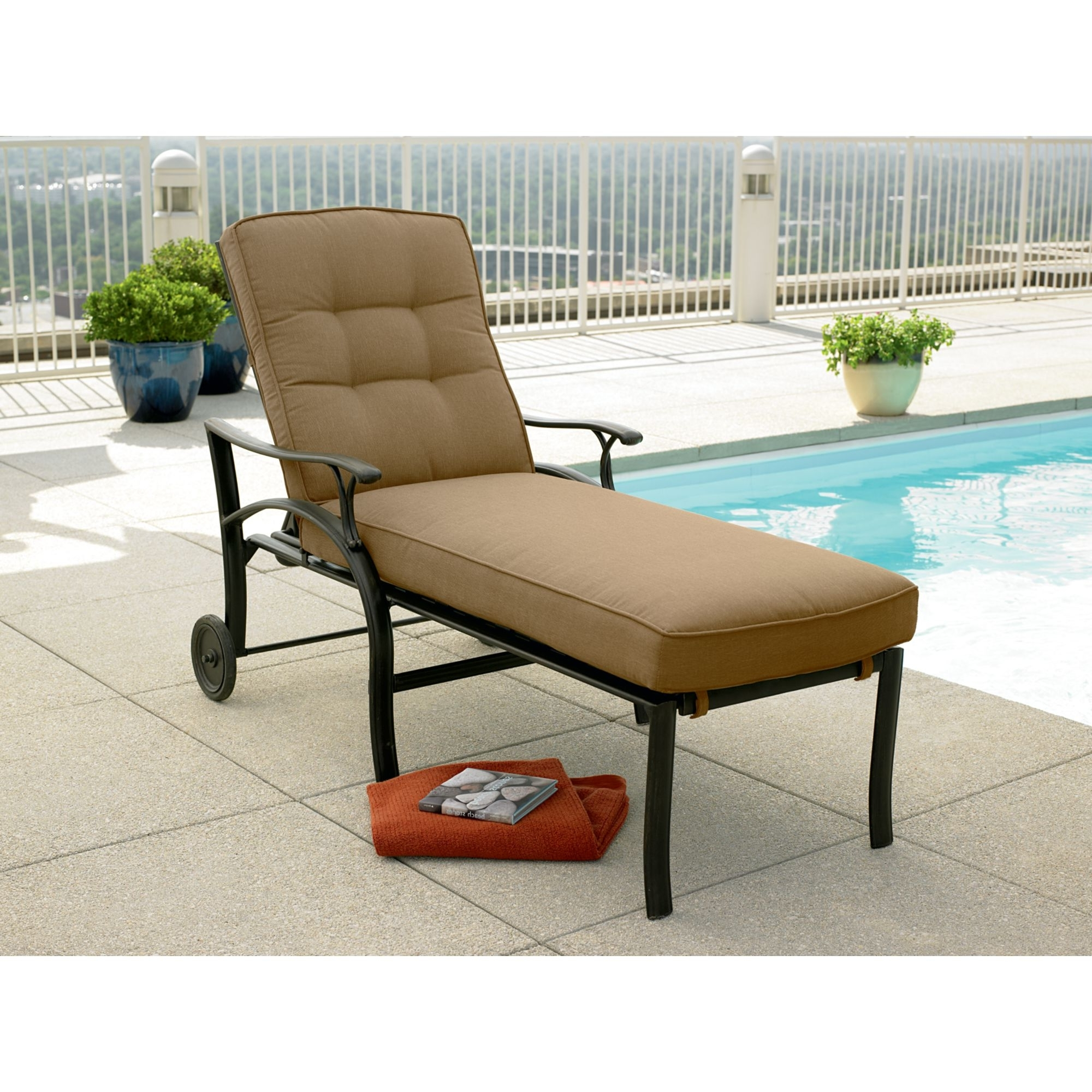 Furniture: Patio Chaise Lounge Chairs Walmart Lounges With Pool Throughout 2017 Adelaide Chaise Lounge Chairs (View 5 of 15)