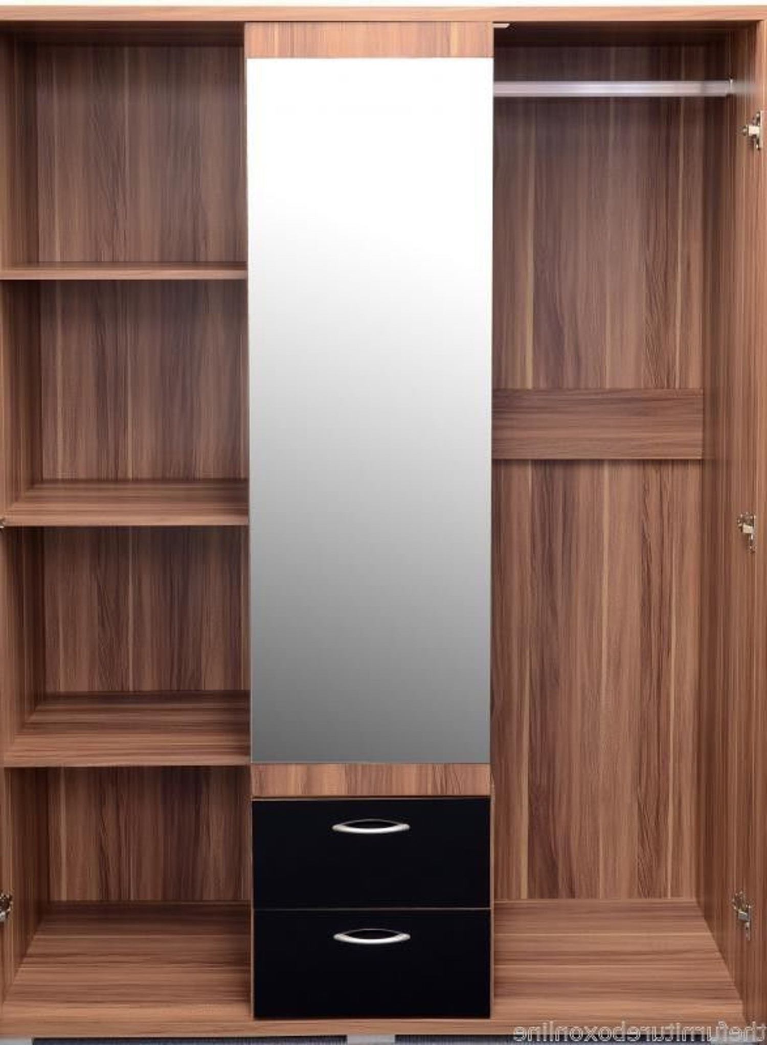 Furniturebox Within Trendy 3 Door Black Wardrobes (View 6 of 15)