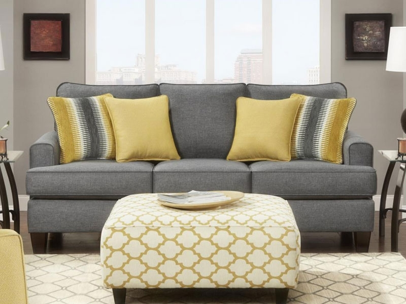 Fusn Maxwell Gray Rs Pertaining To Fashionable Grey Sofa Chairs (View 2 of 10)