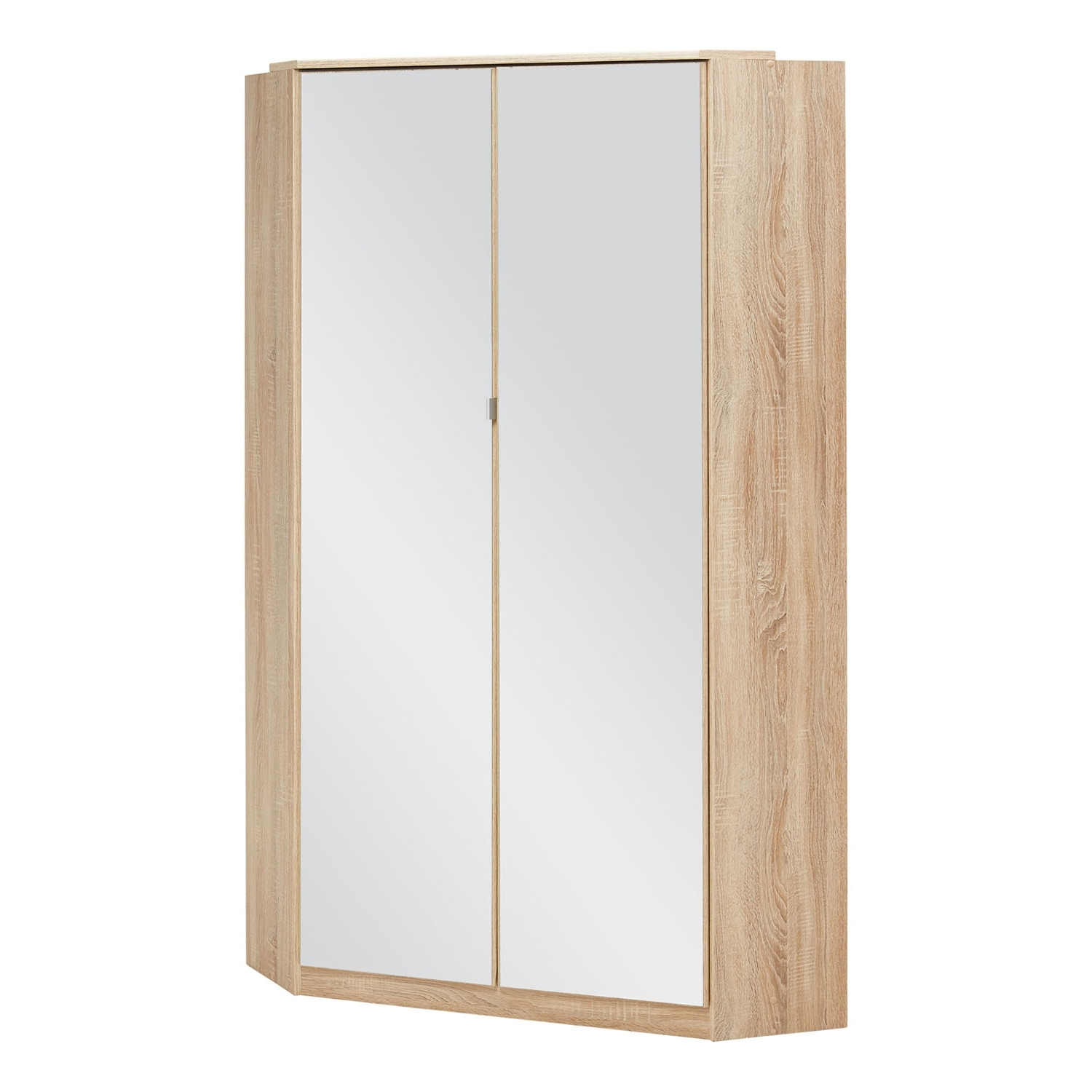 Gamma Oak And White Gloss Corner Wardrobe – Next Day Delivery Intended For 2017 White Gloss Corner Wardrobes (View 4 of 15)