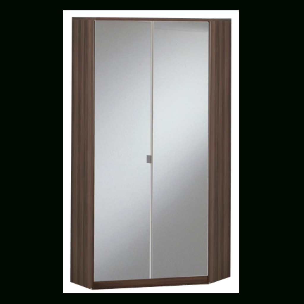 Gamma Walnut & Black Gloss 2 Door Corner Wardrobe (View 6 of 15)