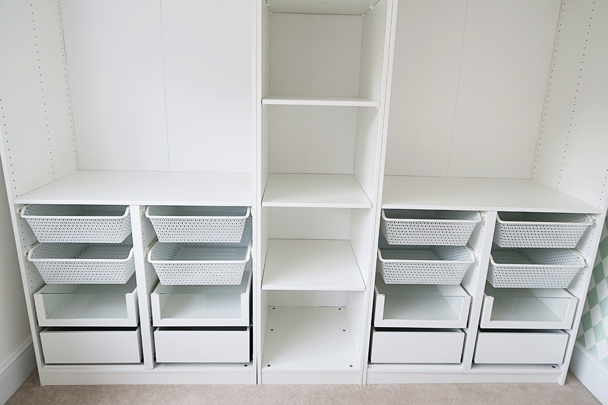 Girls Wardrobes In Current Organising My Girls Wardrobes  Ikea Pax System {Home Renovation (Gallery 8 of 15)