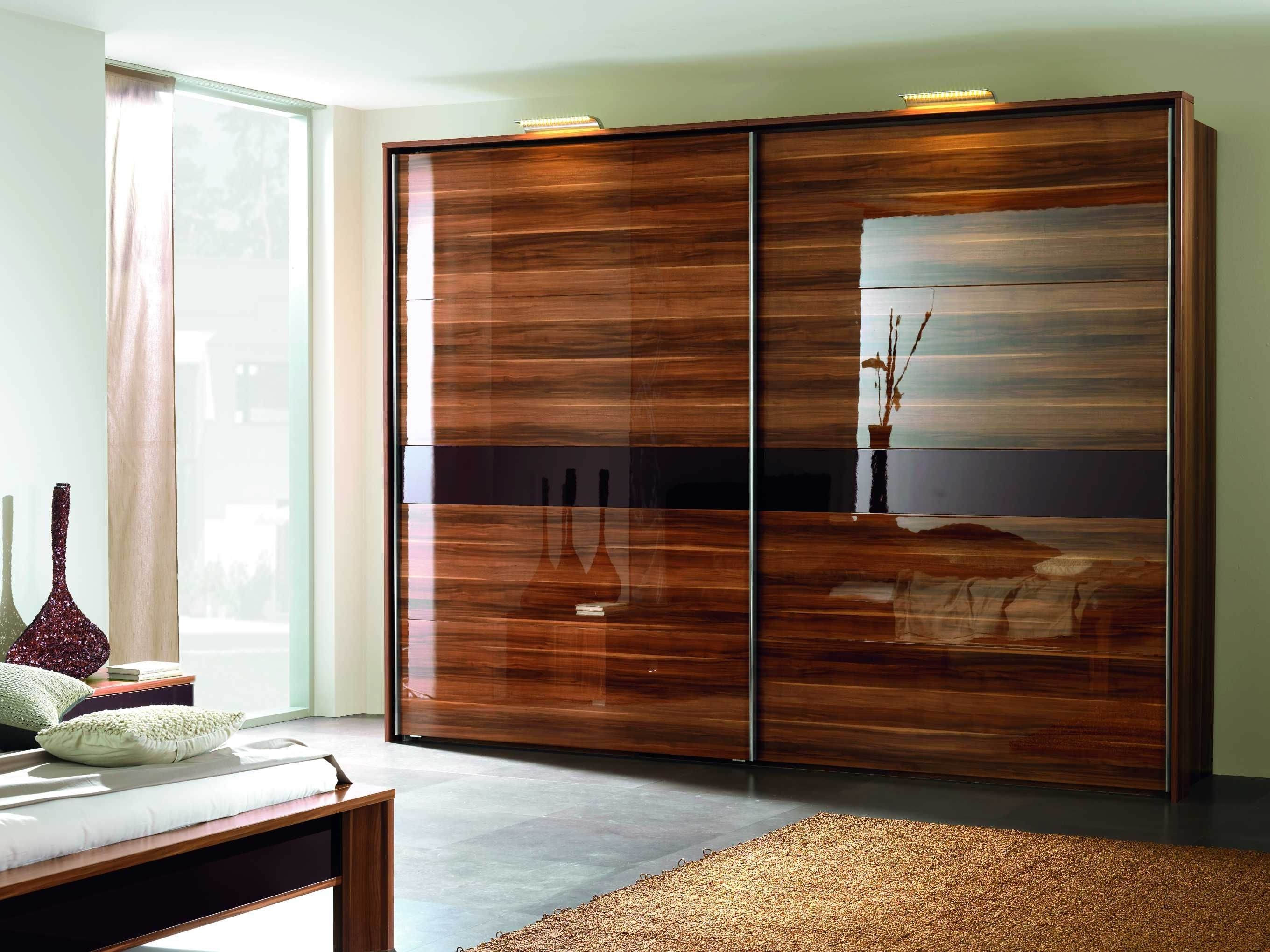 Gloss Wardrobes Within Fashionable Furniture, Luxury Wardrobe Design With Sliding Doors And Cool (View 11 of 15)
