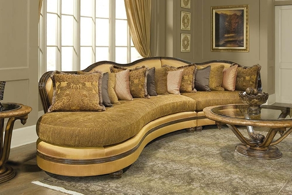 Gold Sectional Sofas Pertaining To Well Liked Sectional Sofa Design: High End Luxury Sectional Sofas High End (Gallery 3 of 10)
