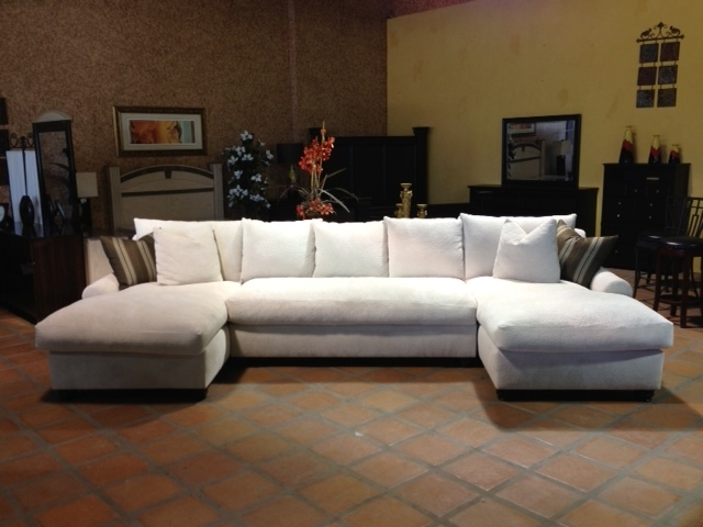 Goose Down Sectional Sofas For Well Known Bradly Double Chaise Feather Down Sectional (View 3 of 10)