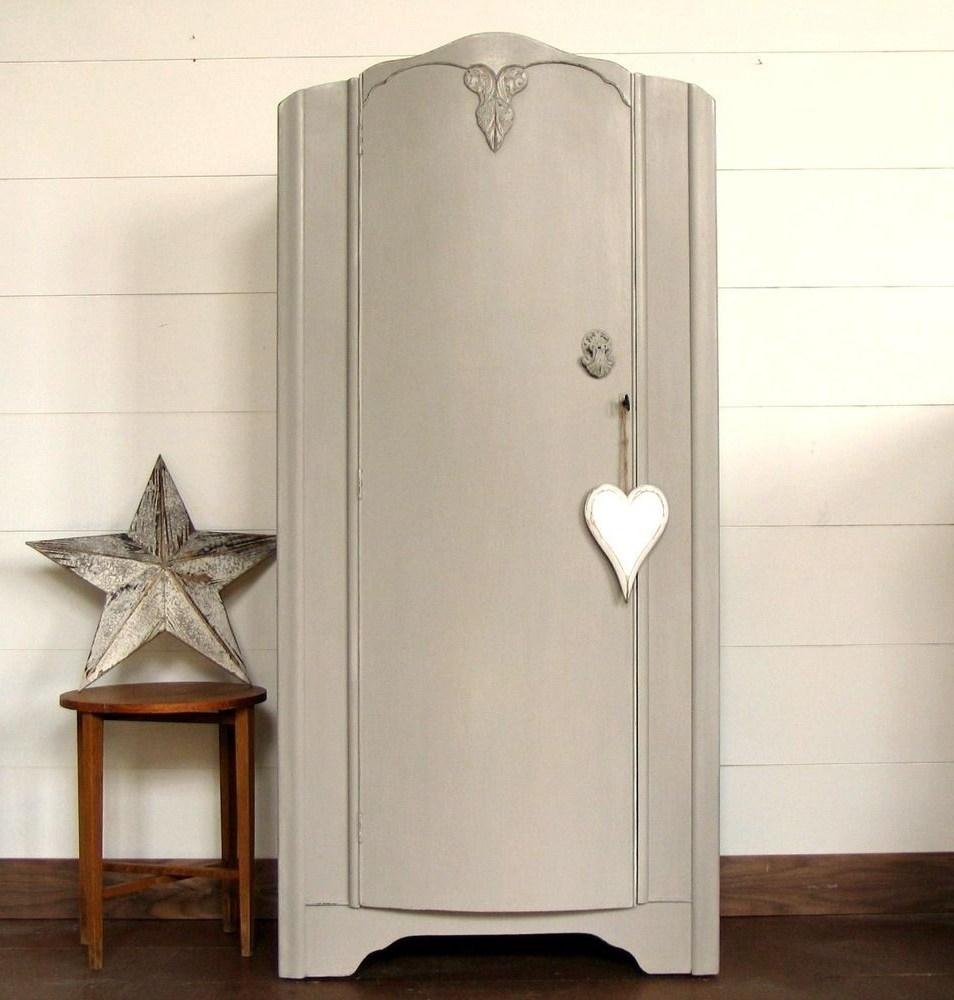 Gorgeous, Little, Vintage Wardrobe, Painted In Farrow & Ball Within Well Known Cheap Vintage Wardrobes (View 7 of 15)