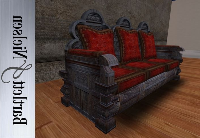 Gothic Carved Sofa – Medieval (Gallery 10 of 10)