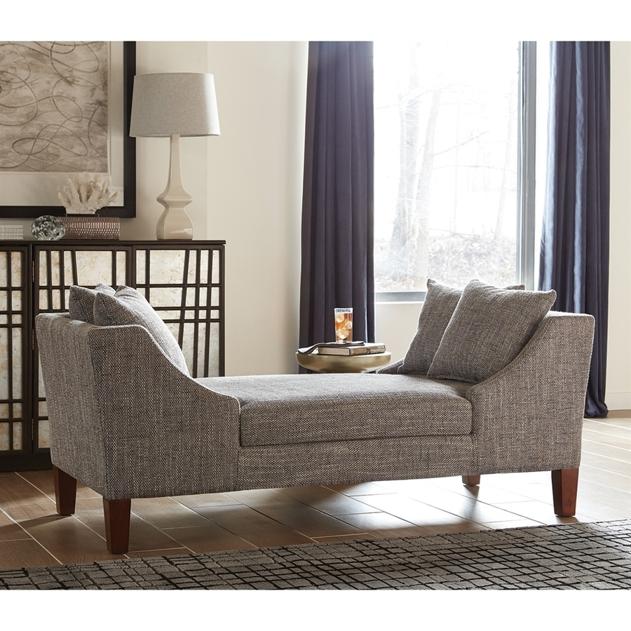 Gray Chaise Lounges Within 2018 Shop Scott Living Midcentury Gray Chaise Lounge At Lowes (View 11 of 15)