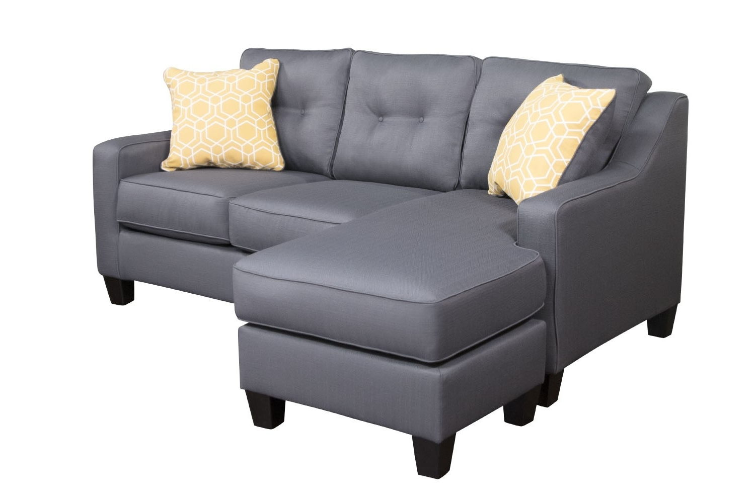 Gray Couches With Chaise Inside Trendy Aldie Gray Sofa Chaise (View 7 of 15)