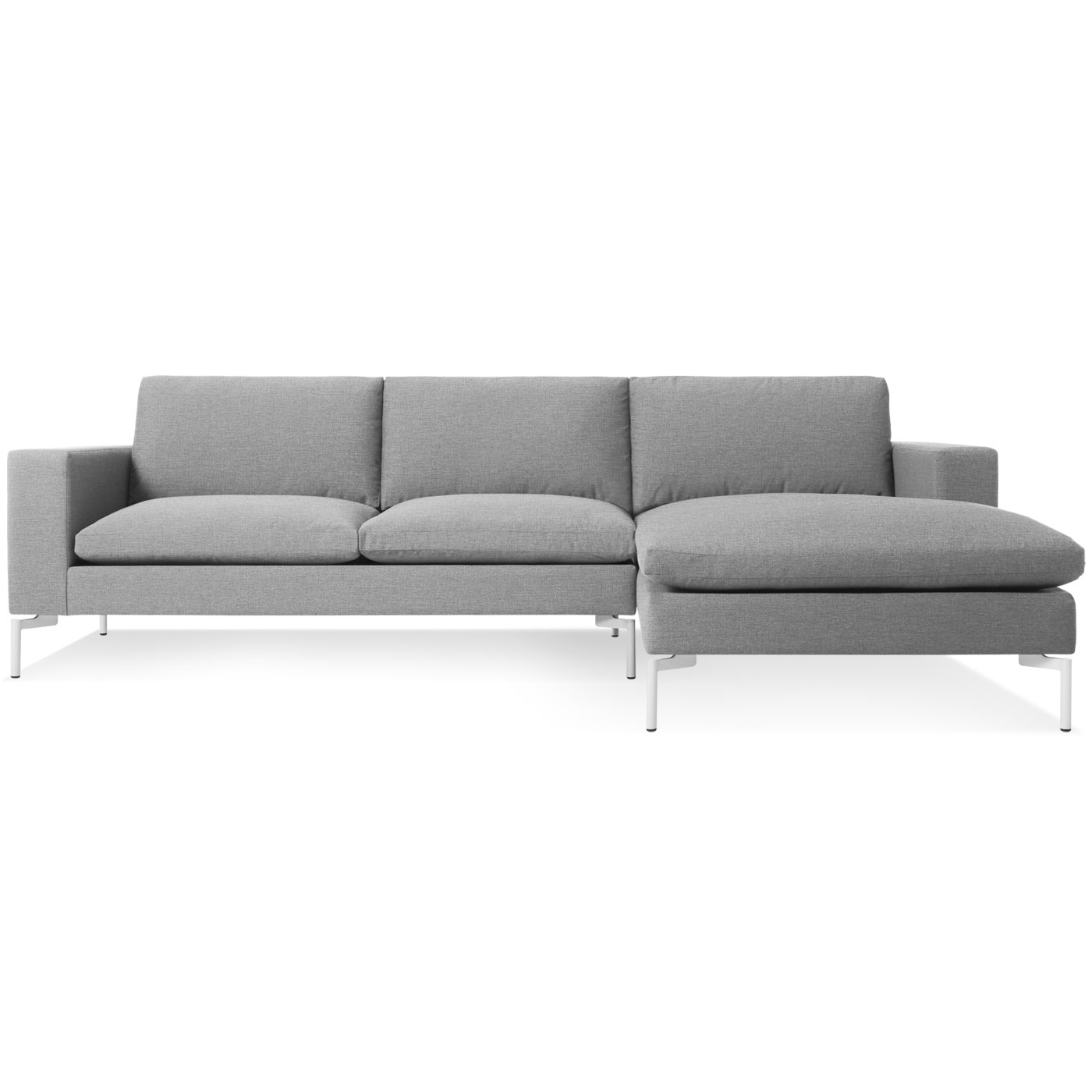Gray Couches With Chaise Regarding Preferred New Standard Modern Chaise Sofa – Left Chaise (Gallery 9 of 15)