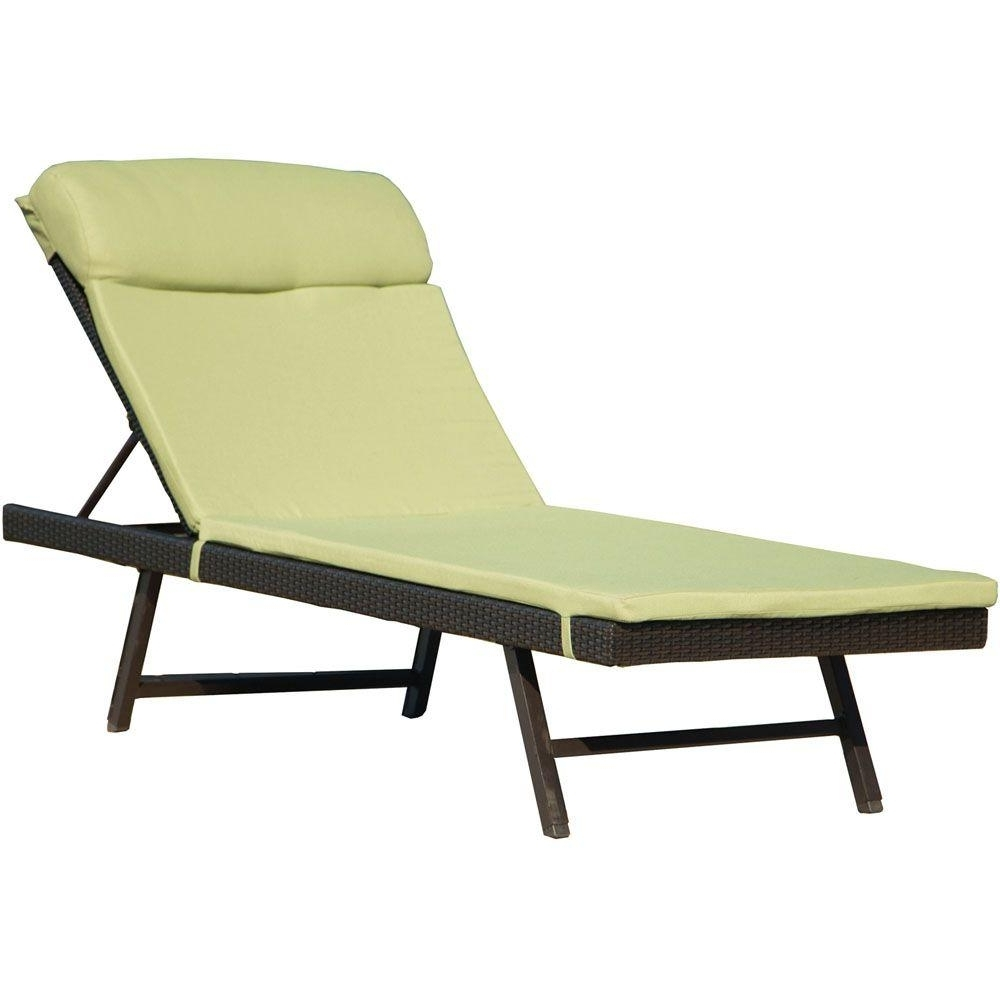 Green – Outdoor Chaise Lounges – Patio Chairs – The Home Depot For Latest Home Depot Chaise Lounges (View 14 of 15)