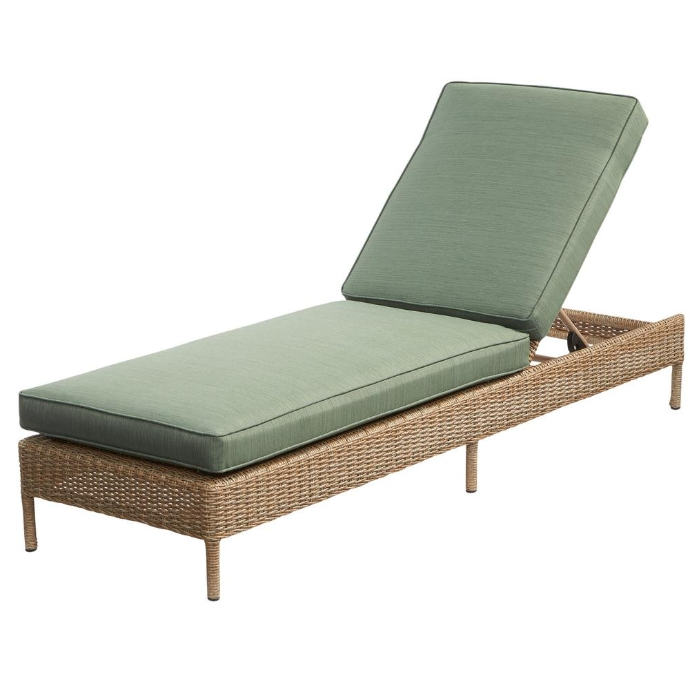 Green – Outdoor Chaise Lounges – Patio Chairs – The Home Depot Pertaining To Fashionable Deck Chaise Lounge Chairs (Gallery 3 of 15)