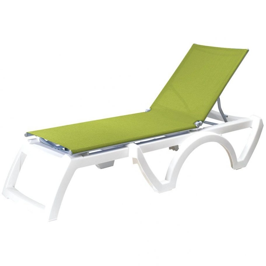 Featured Photo of Green Resin Chaise Lounge Chairs