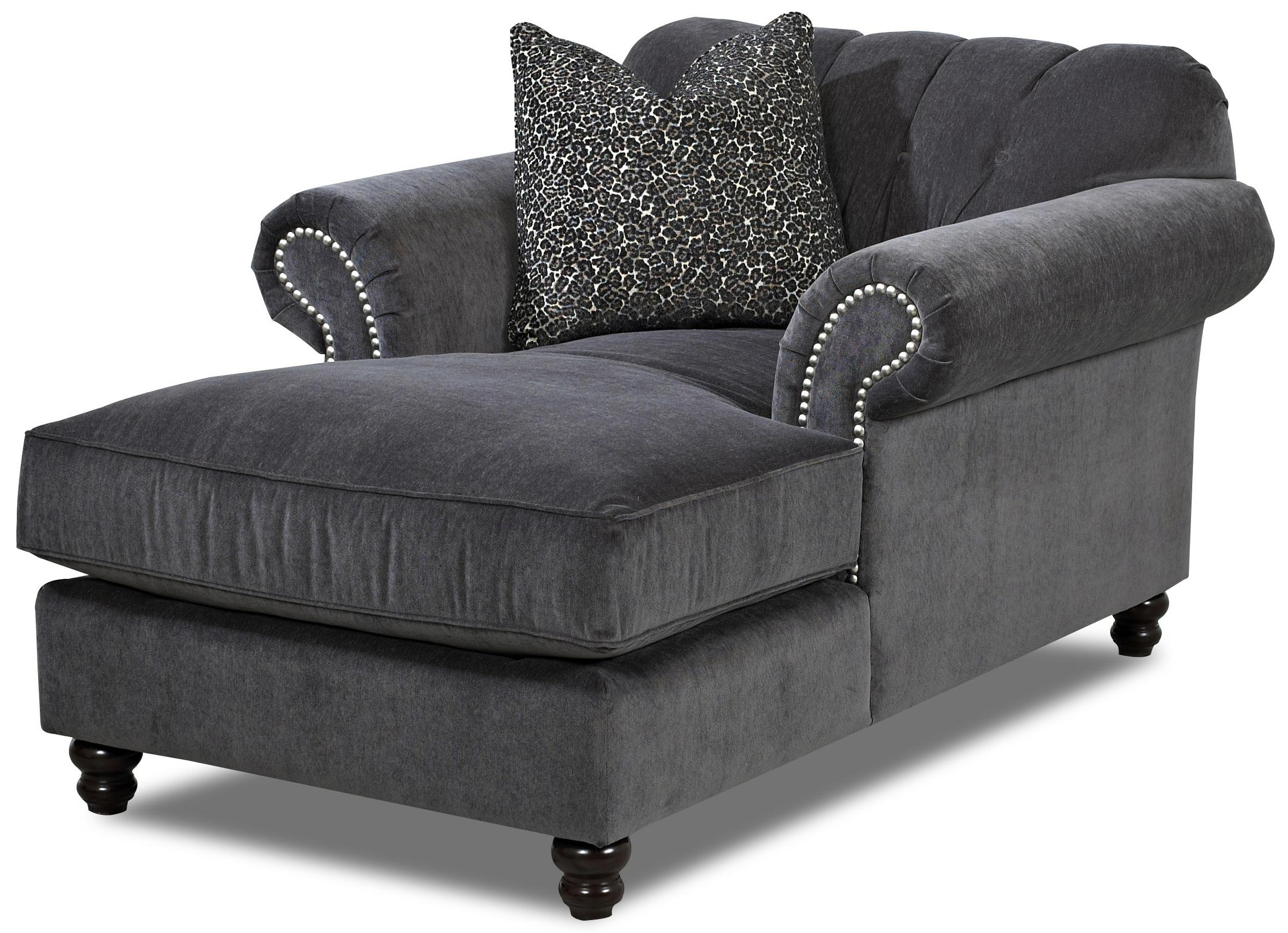 Grey Chaise Lounges With Newest Lounge Chair : Furniture Oversized Chaise Lounge Sofa Leather (View 5 of 15)