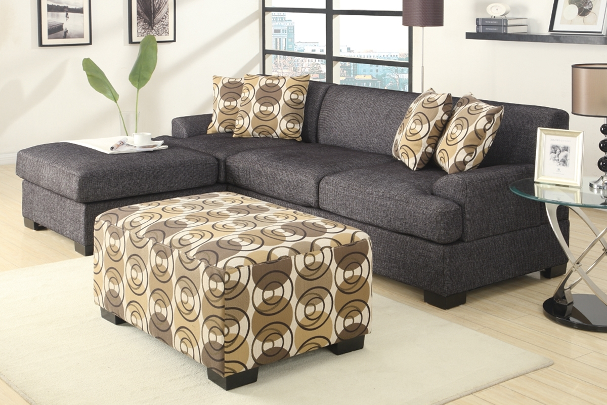 Grey Chaise Sectionals For Recent Fascinating Furniture For Living Room Decoration Using Black And (View 7 of 15)