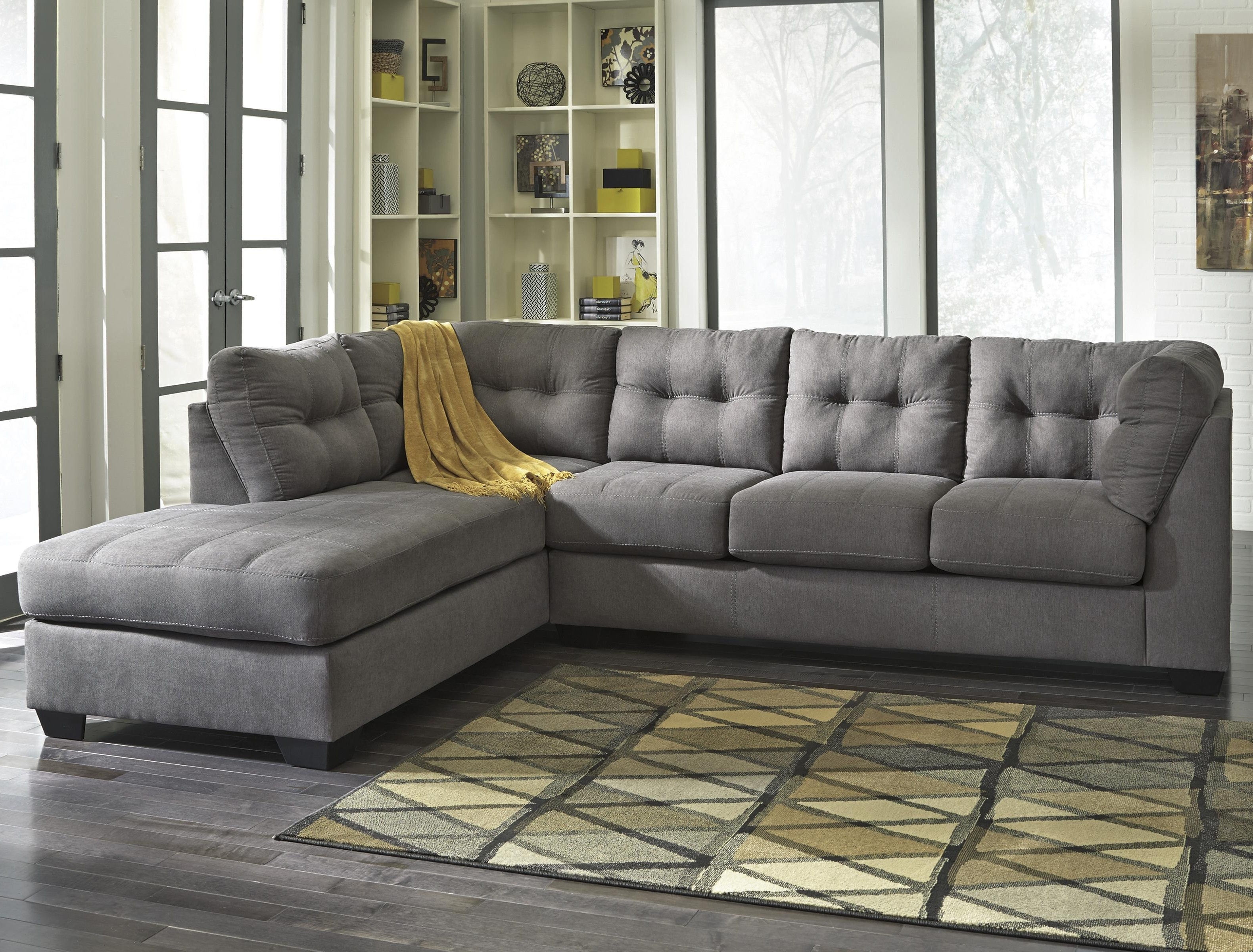 Grey Chaise Sectionals In Latest 2 Piece Sectional With Right Chaisebenchcraft (Gallery 1 of 15)