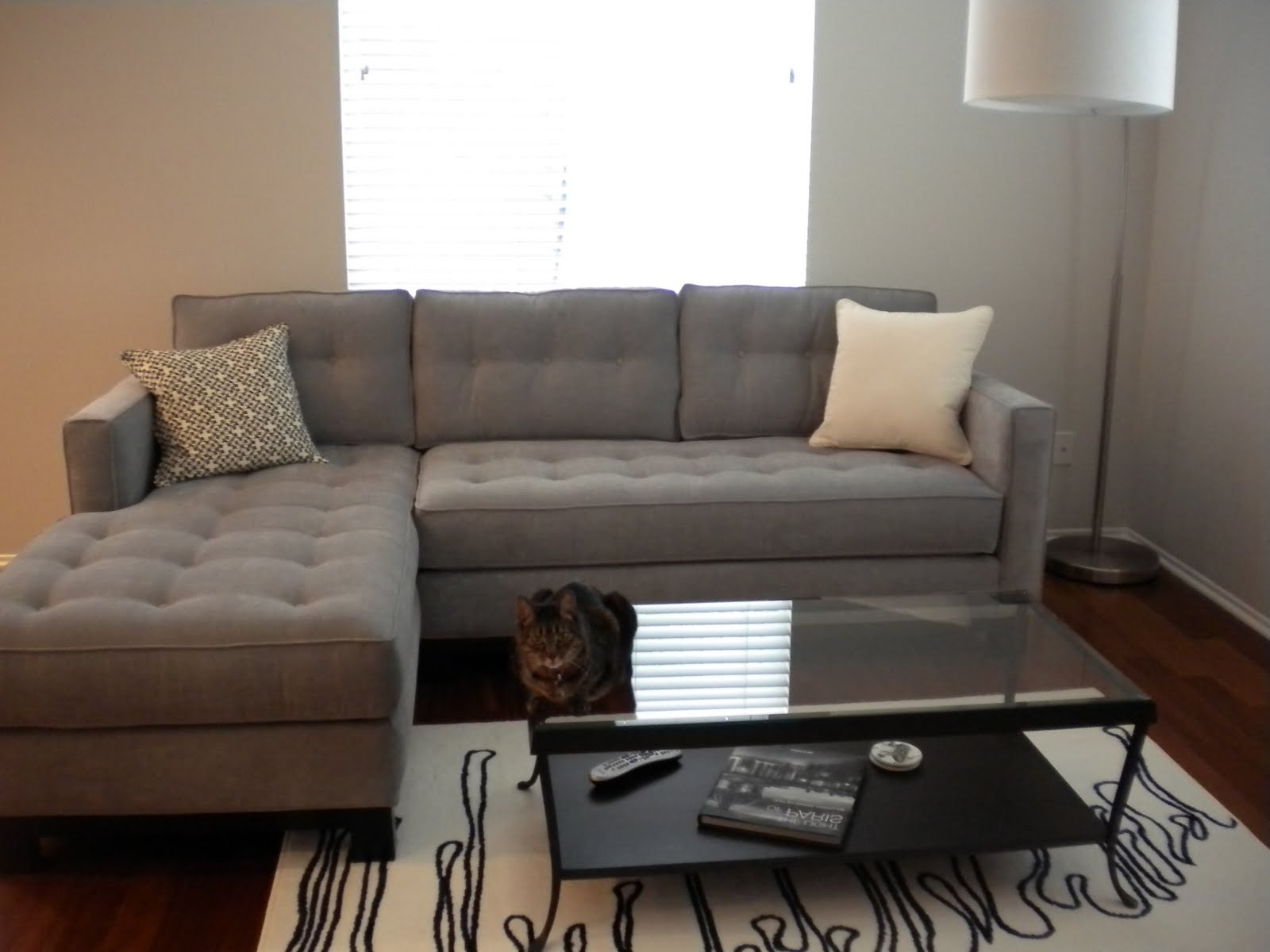 Grey Chaise Sectionals With Regard To Latest Extraordinary Grey Velvet Sectional Sofa 93 On Large Sectional (View 9 of 15)