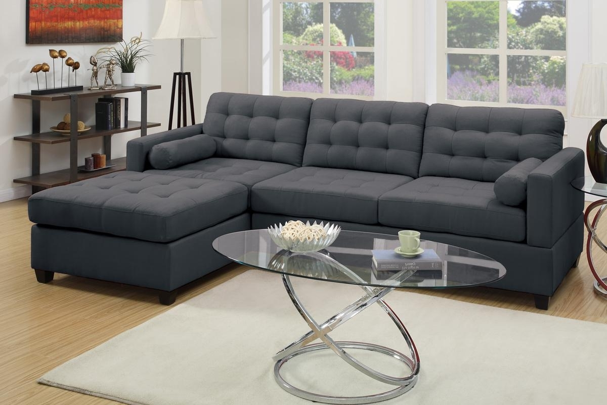 Grey Couches With Chaise Regarding 2018 Grey Fabric Sectional Sofa – Steal A Sofa Furniture Outlet Los (Gallery 4 of 15)