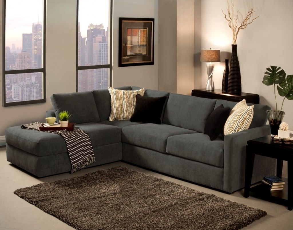 Grey L Shaped Sofa Chaise Lounge Sofa Complete Beige And Black Throughout Preferred Sectional Sofas With Chaise Lounge (Gallery 5 of 15)