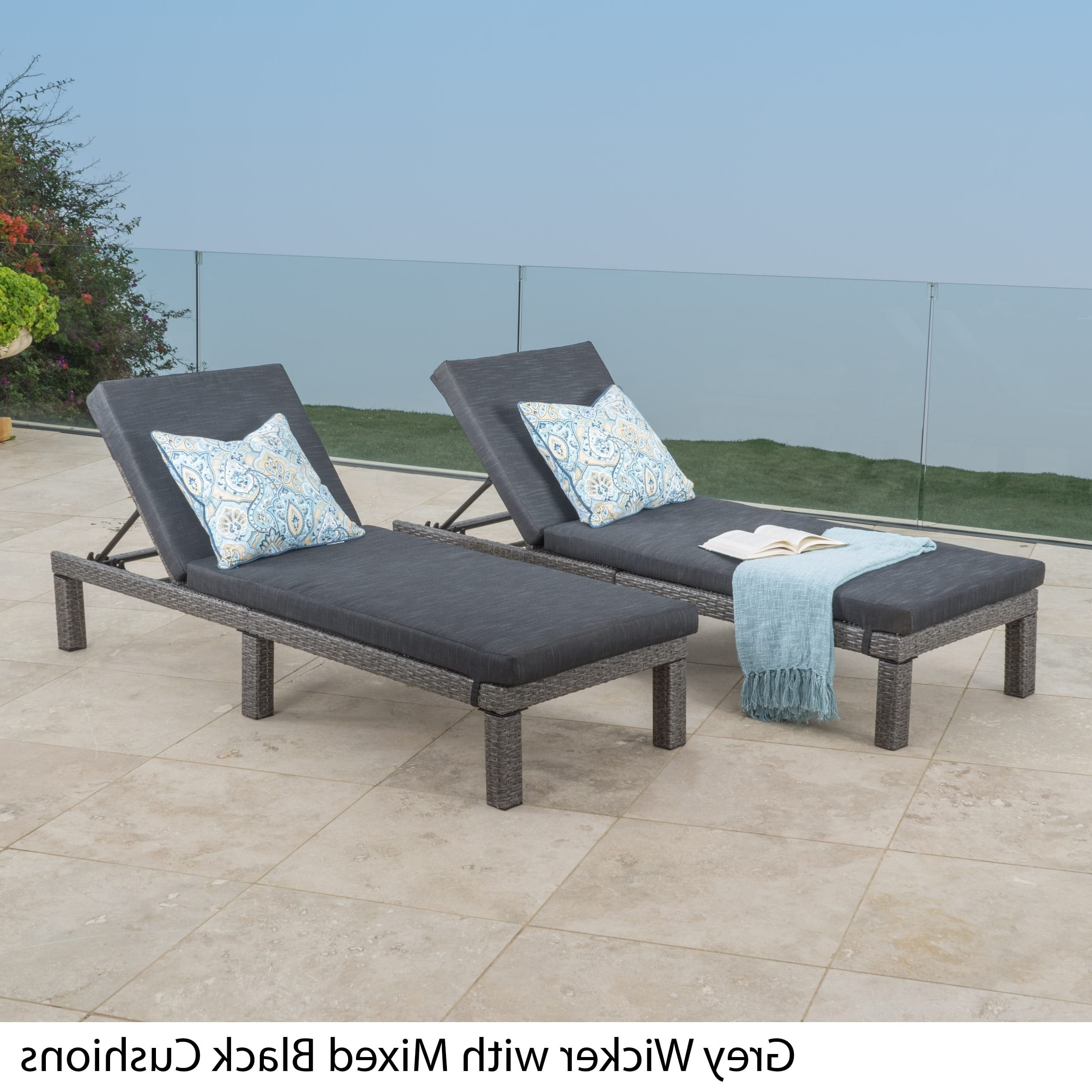 Grey Outdoor Chaise Lounges For Less (Gallery 10 of 15)