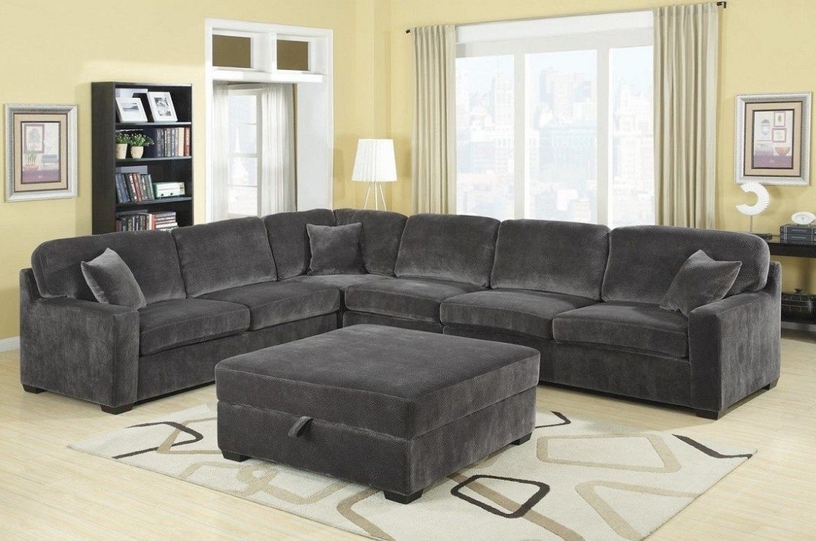 Grey Sectional Sofas With Chaise With 2017 Stunning Charcoal Gray Sectional Sofa With Chaise Lounge 34 About (Gallery 13 of 15)