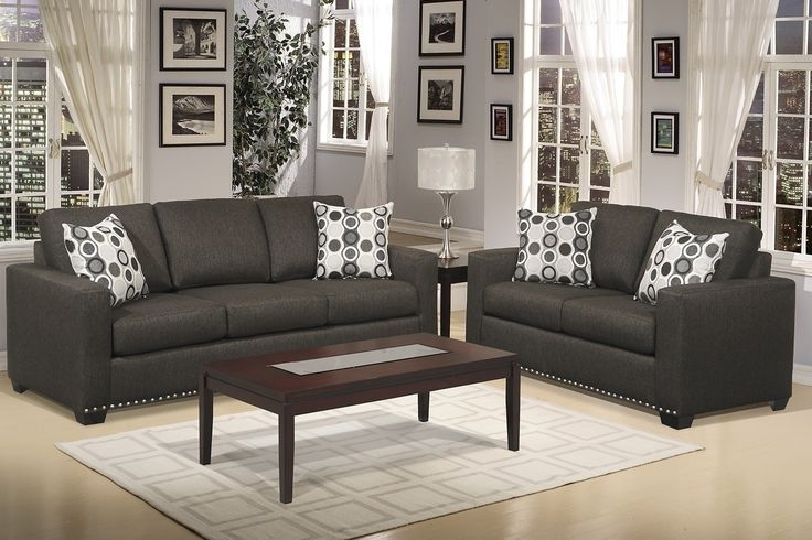Grey Sofa Chairs Intended For Best And Newest Dark Grey Sofa Living Room Ideas – Home Factual (View 9 of 10)