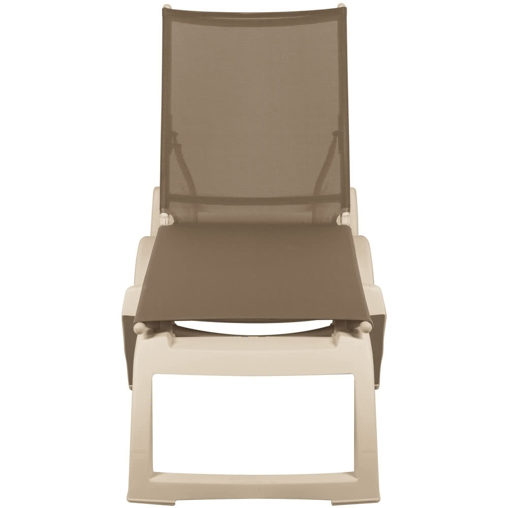 Grosfillex Chaise Lounge Chairs Regarding Famous Grosfillex Us366181 / Us636181 Calypso Sandstone / Taupe Stacking (View 14 of 15)