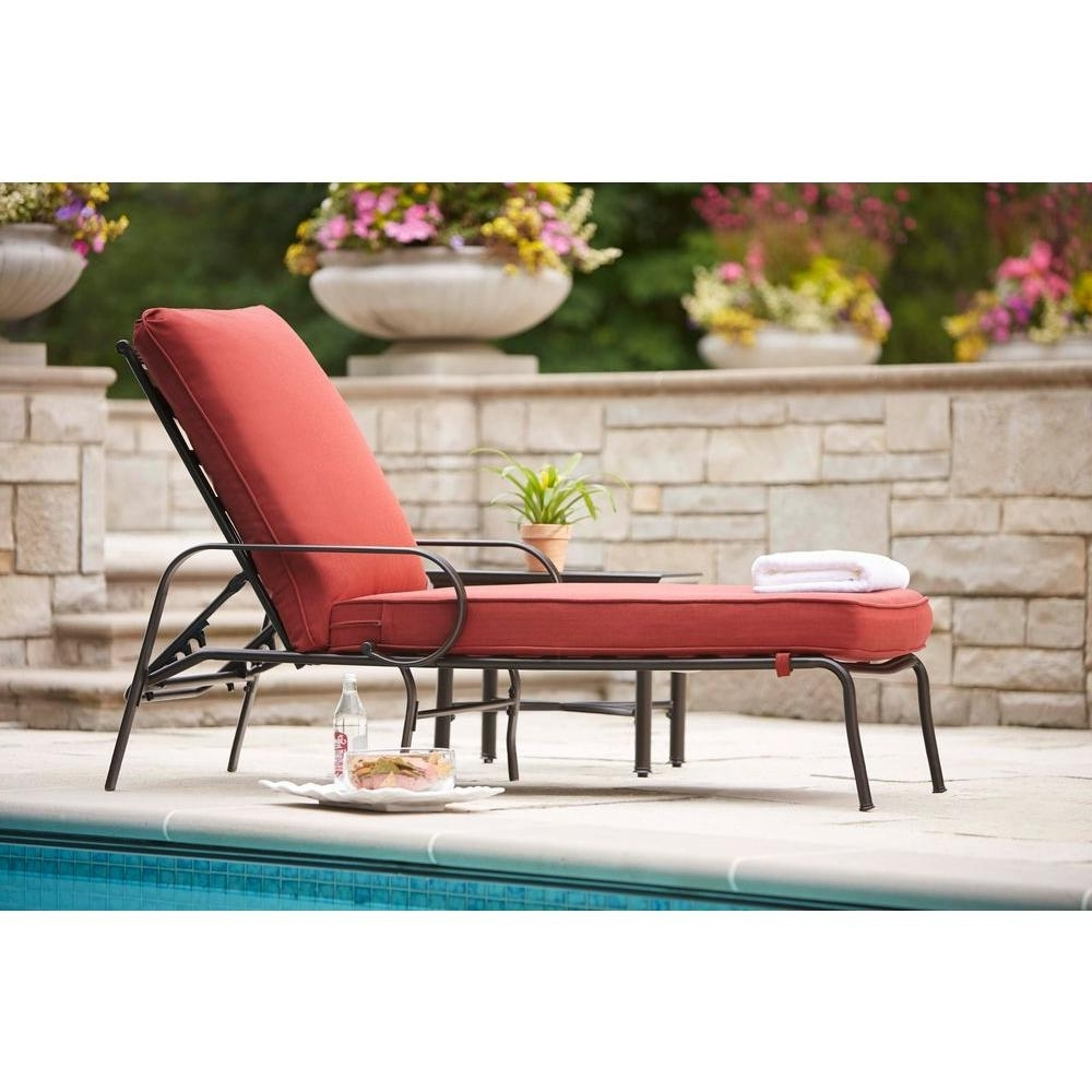 Hampton Bay Chaise Lounge Chairs Throughout Well Liked Pool Chaise Lounge Chairs – Stackable Pool Chaise Lounge Chairs (View 5 of 15)