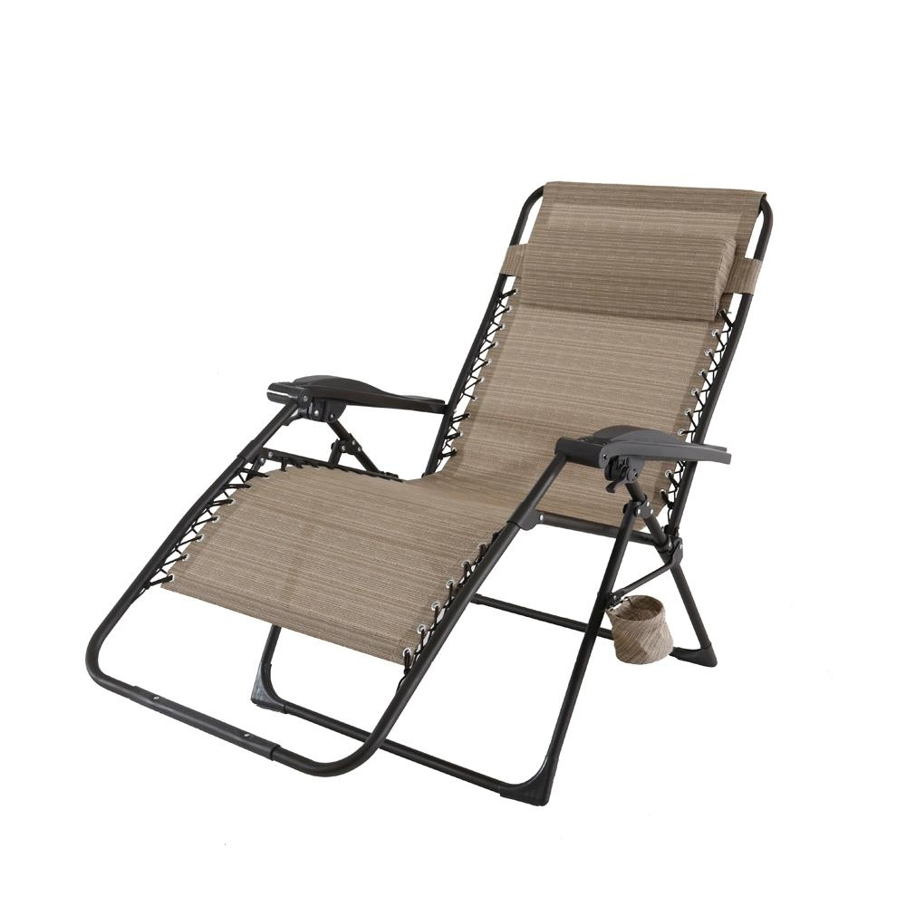 Hampton Bay Mix And Match Oversized Zero Gravity Sling Outdoor With Current Hampton Bay Chaise Lounge Chairs (View 14 of 15)
