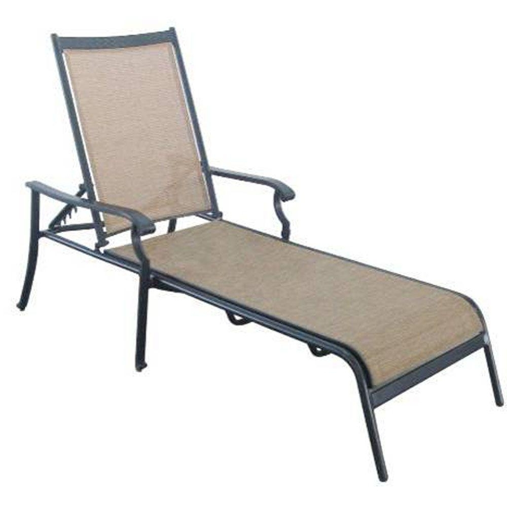 Hampton Bay Solana Bay Patio Chaise Lounge As Acl 1148 – The Home Throughout Trendy Outdoor Chaise Lounge Chairs With Arms (View 4 of 15)