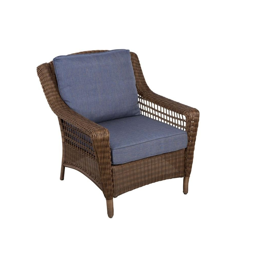 Hampton Bay Spring Haven Brown All Weather Wicker Patio Lounge Inside Latest Chaise Lounge Chairs For Sunroom (View 12 of 15)