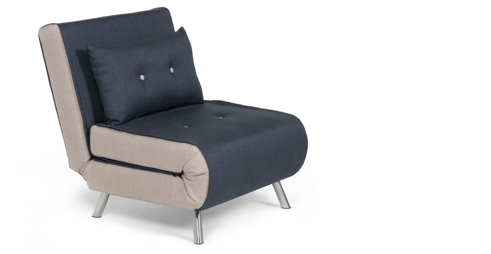 Haru Single Sofa Bed, Quartz Blue (View 3 of 10)