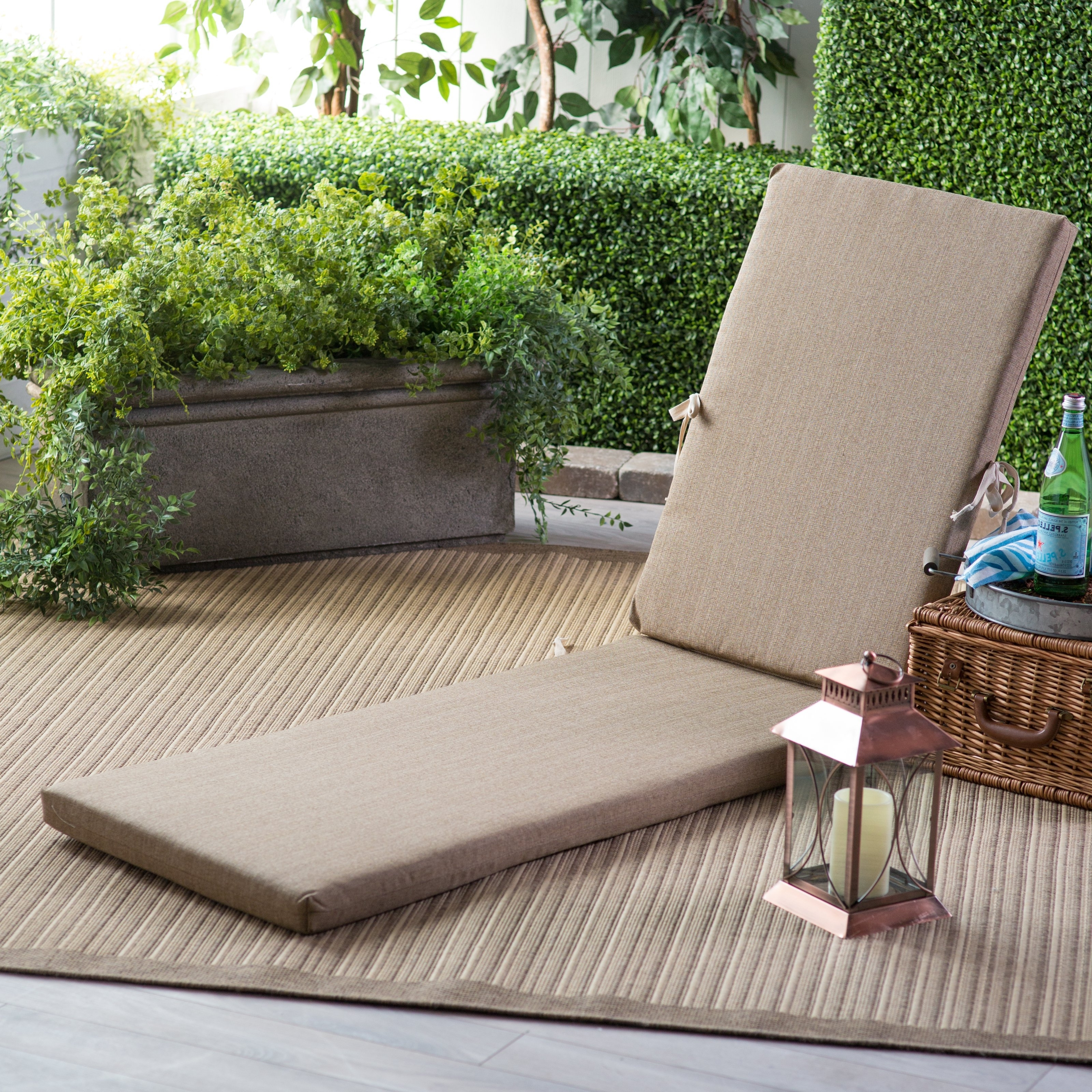 Hayneedle Throughout Sunbrella Chaise Cushions (View 3 of 15)