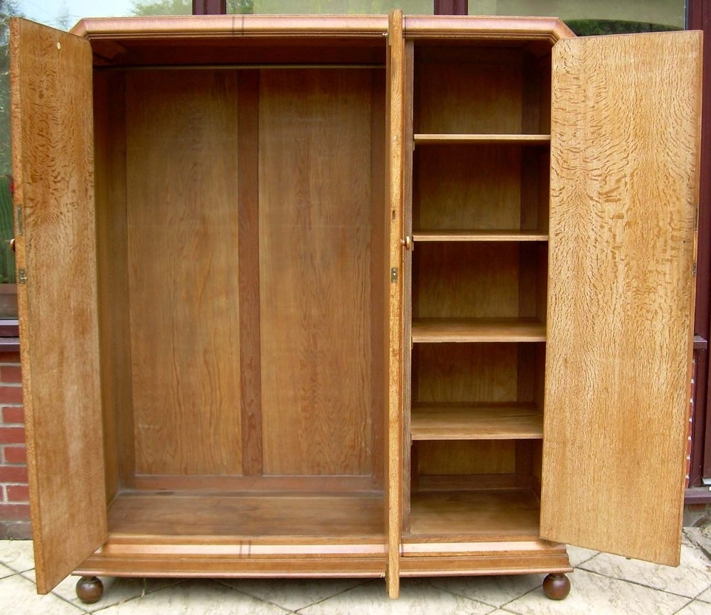 Heals Oak Triple Wardrobe – Antiques Atlas Inside Well Known Triple Oak Wardrobes (View 8 of 15)