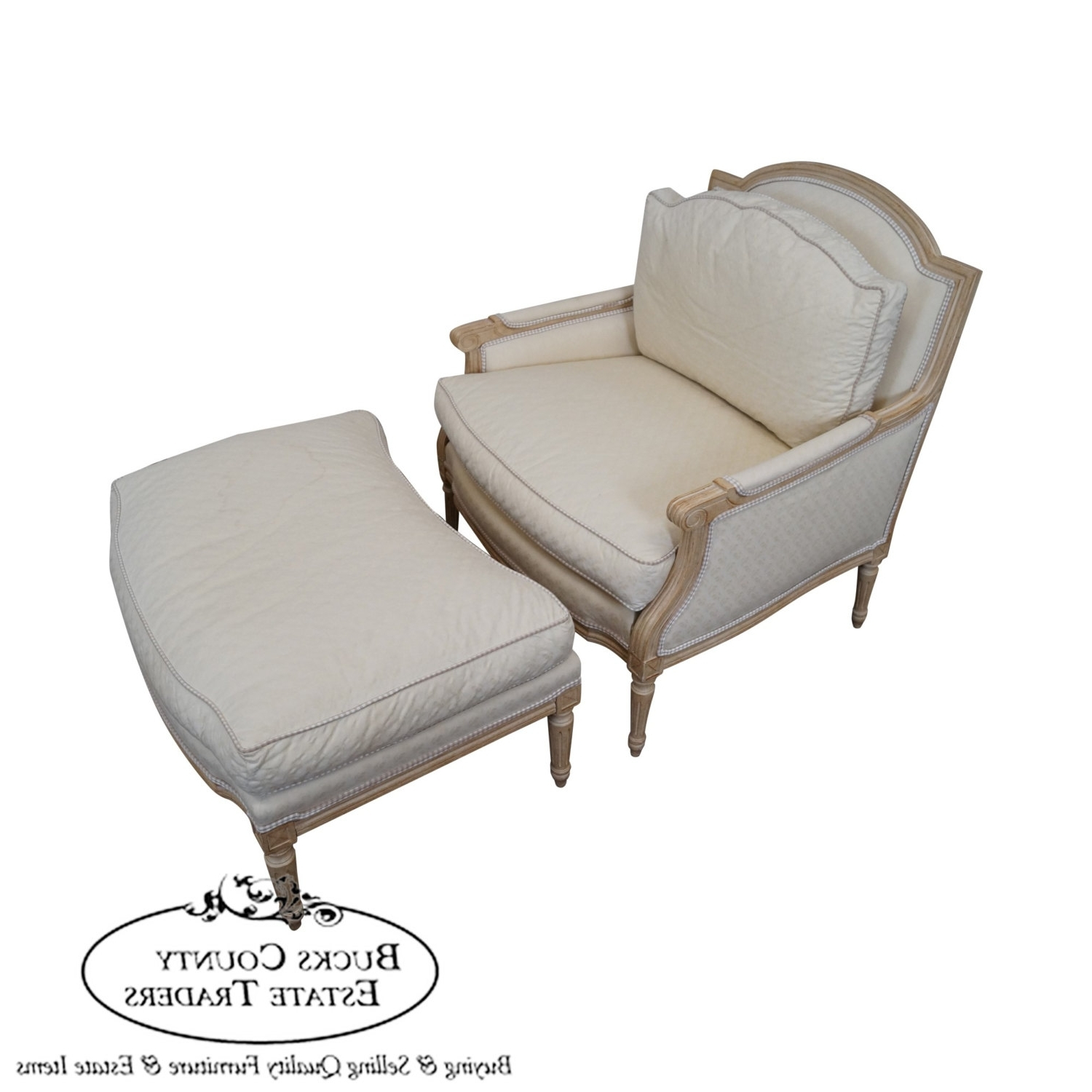 Heirloom Furniture French Louis Xv Style Bergere Chaise Lounge Pertaining To Well Known Chaise Lounge Chairs With Ottoman (View 5 of 15)