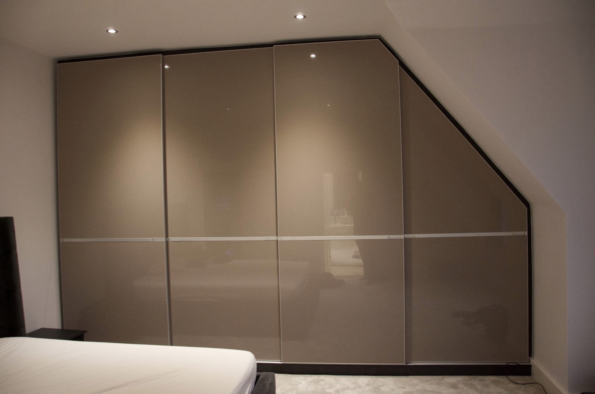 High Gloss Doors Wardrobes Pertaining To Trendy Sloping Ceiling Sliding Wardrobe Infisso Range, Enfield (View 4 of 15)