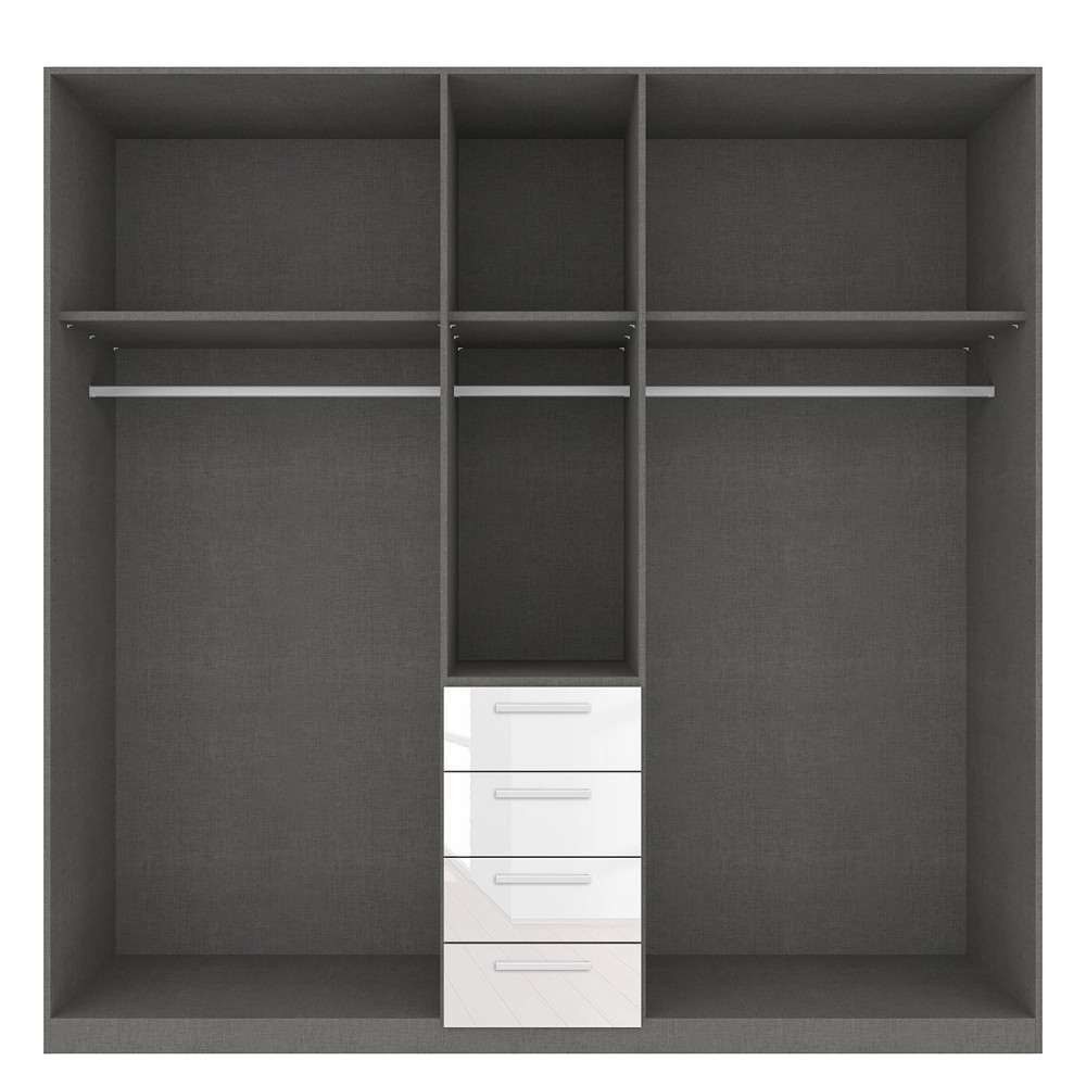 High Gloss White Wardrobes On Sale With Drawers London Inside Best And Newest Rauch Wardrobes (Gallery 11 of 15)