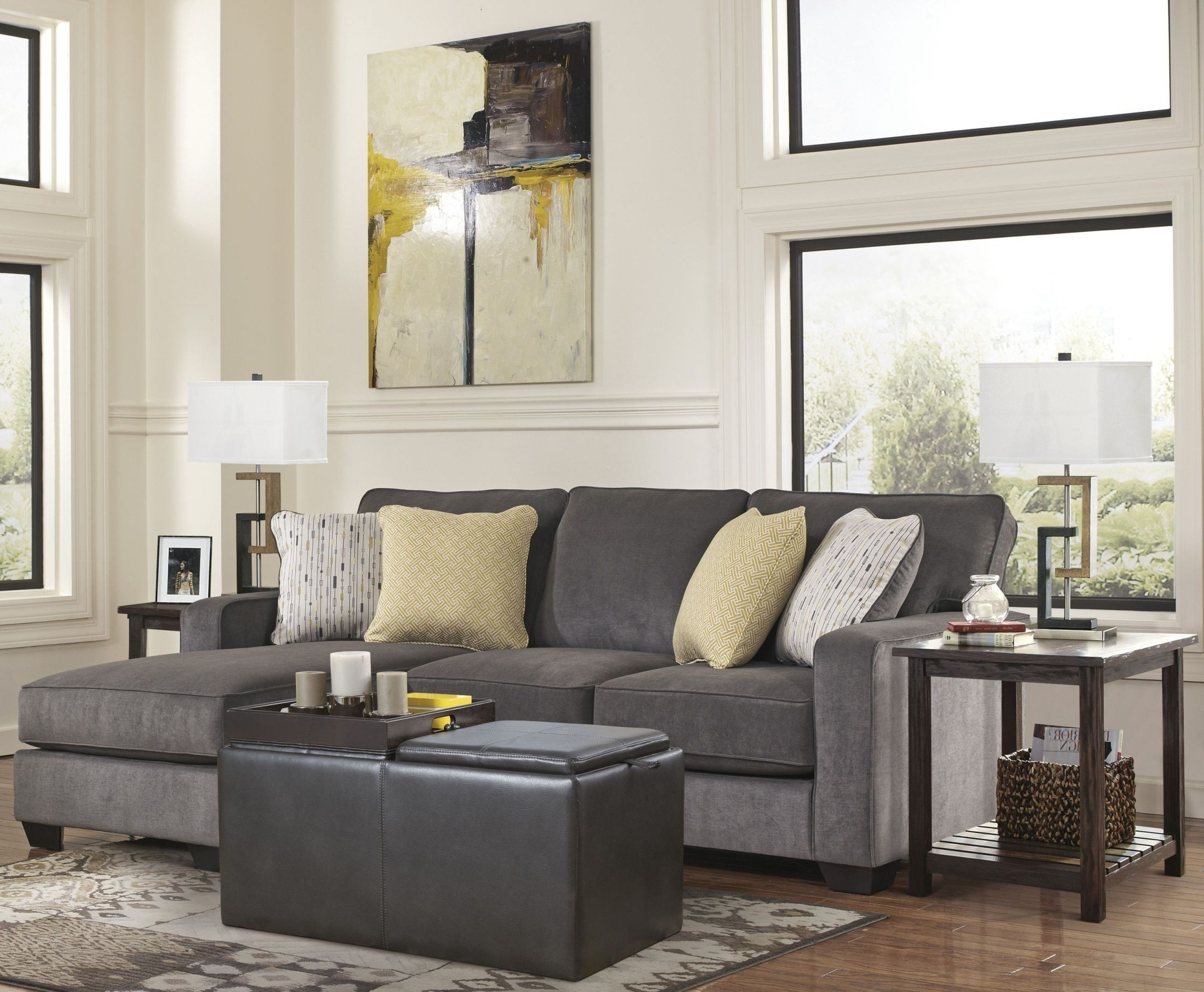 Hodan Marble Sofa With Chaise From Ashley (7970018) (View 5 of 15)