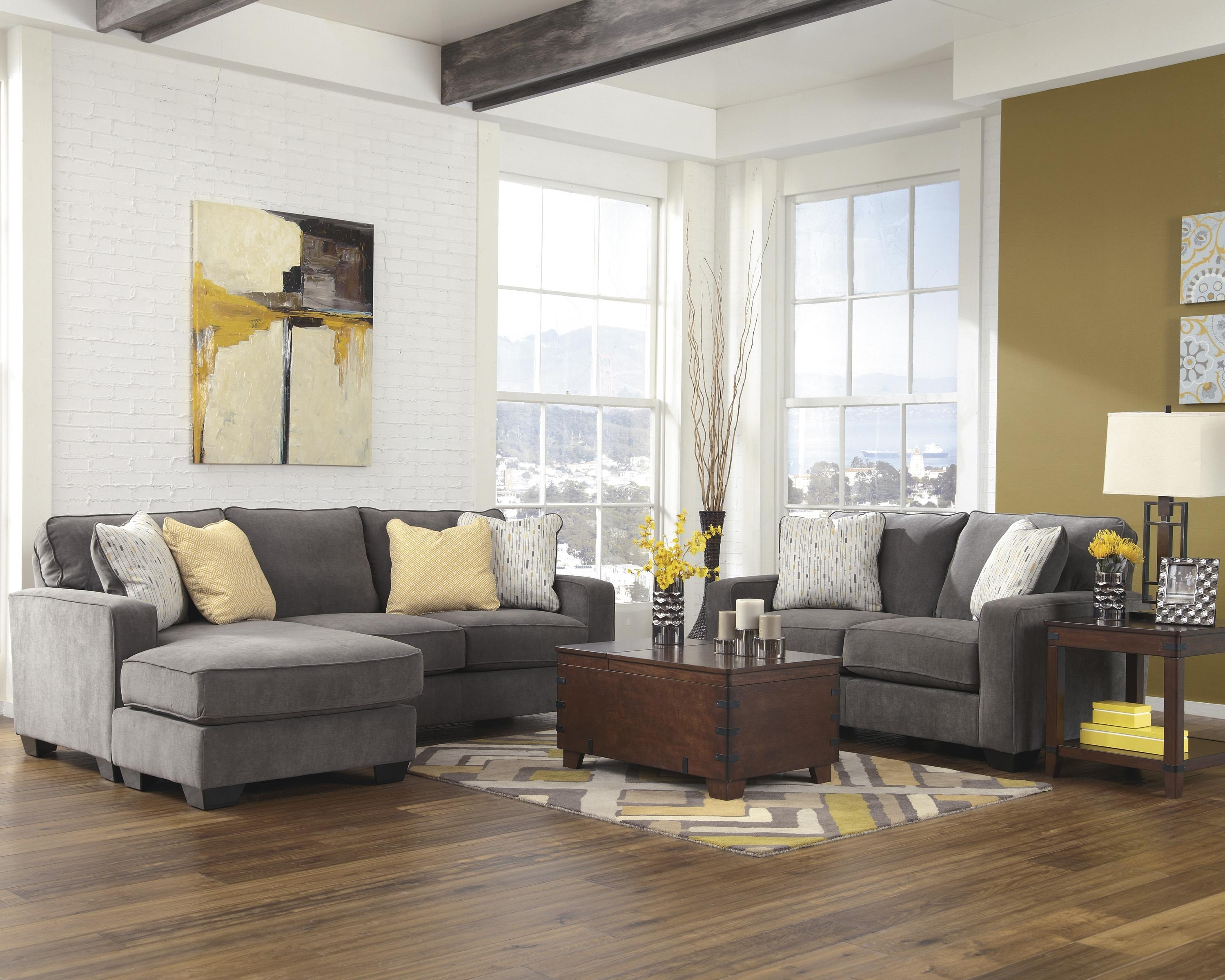 Hodan Sofas With Chaise Intended For Well Known Signature Designashley Hodan – Marble Contemporary Sofa Chaise (View 7 of 15)