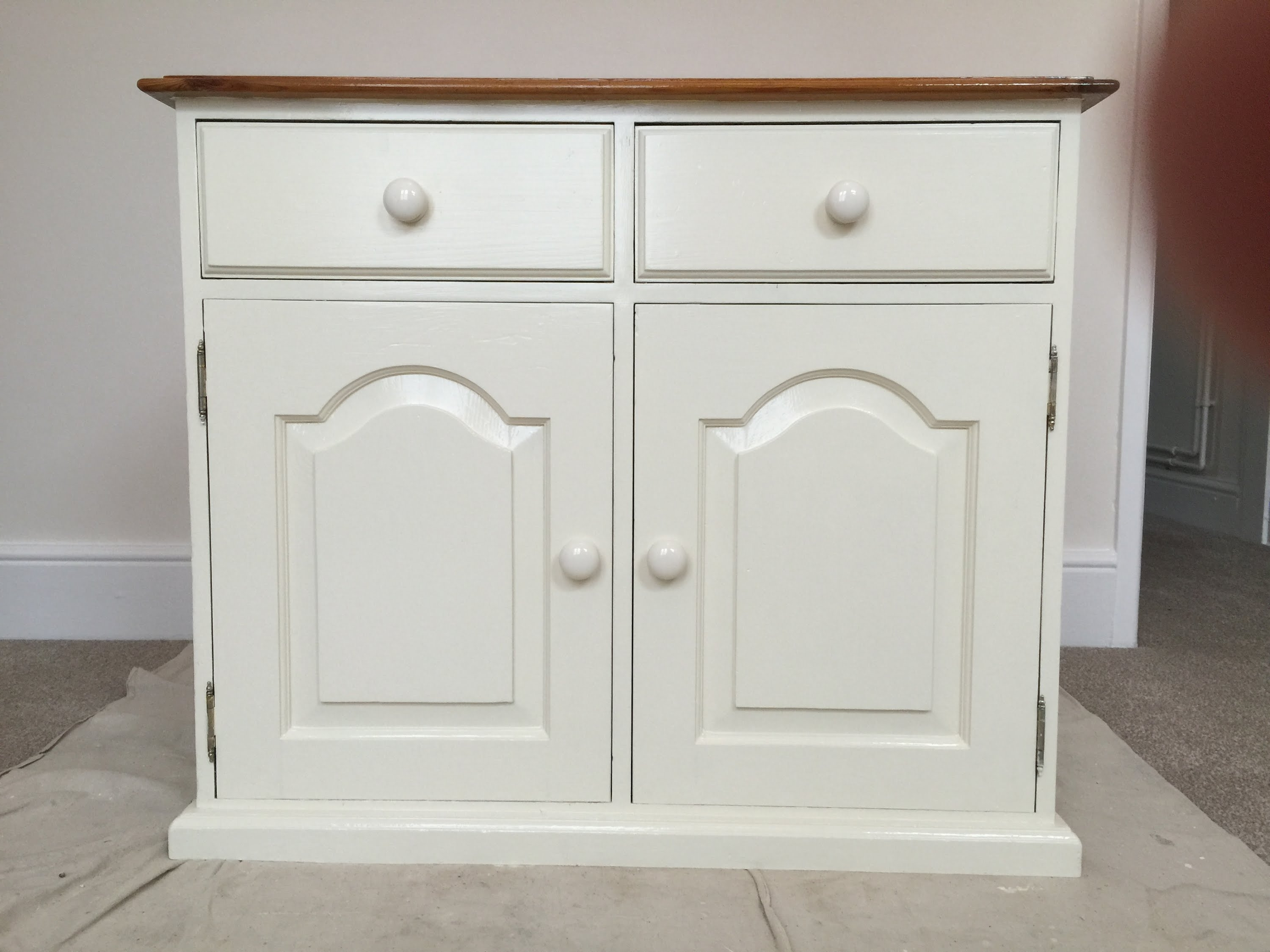 How To Paint Old Pine Furniture, Restoration – Youtube Pertaining To Widely Used White Painted Wardrobes (View 3 of 15)