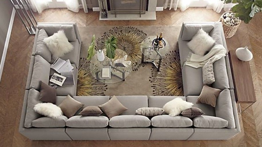 Huge U Shaped Sectionals With Regard To Recent How To Master The U Shape! … (Gallery 1 of 10)