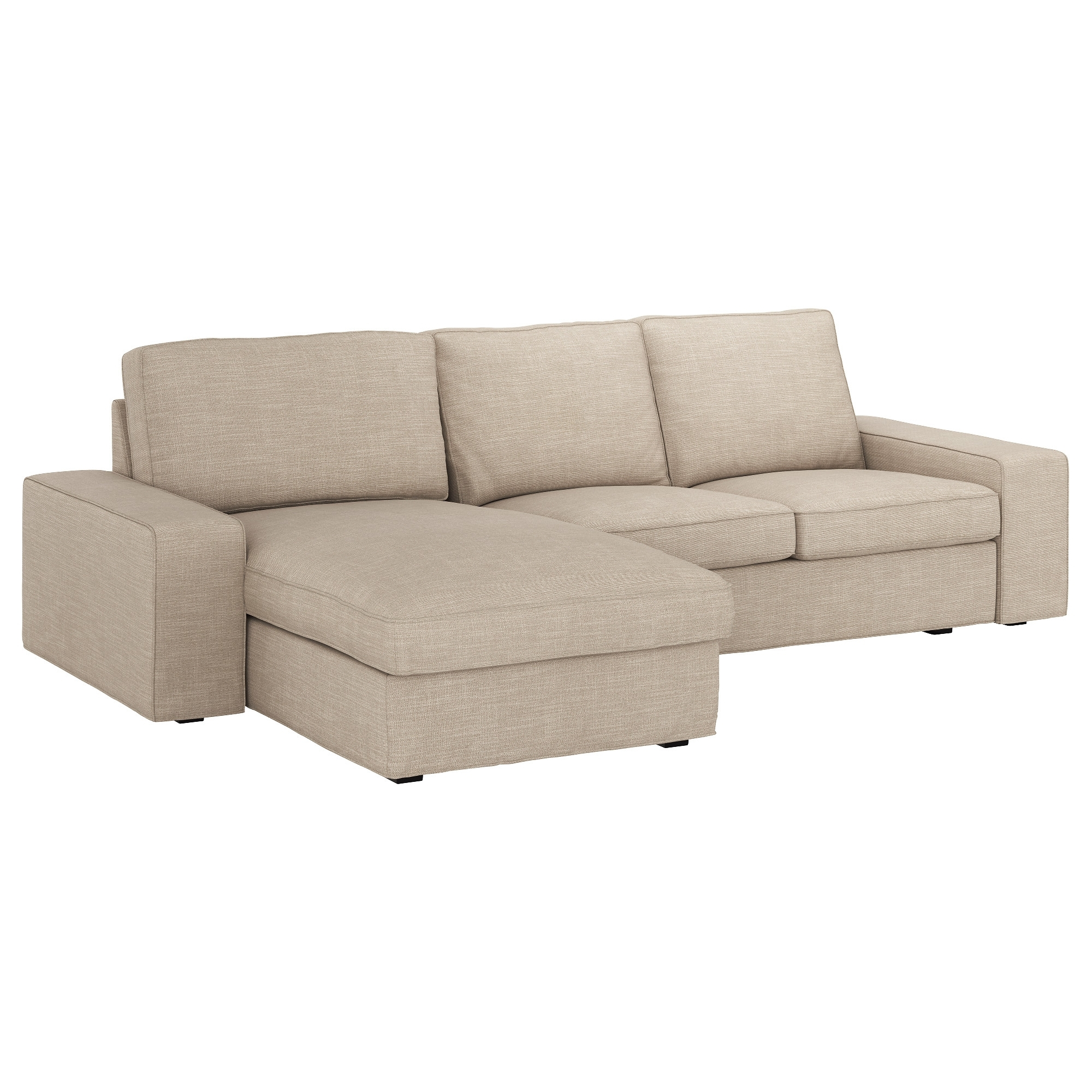 Ikea Chaise Couches Throughout 2017 Kivik Sofa – With Chaise/hillared Beige – Ikea (Gallery 3 of 15)