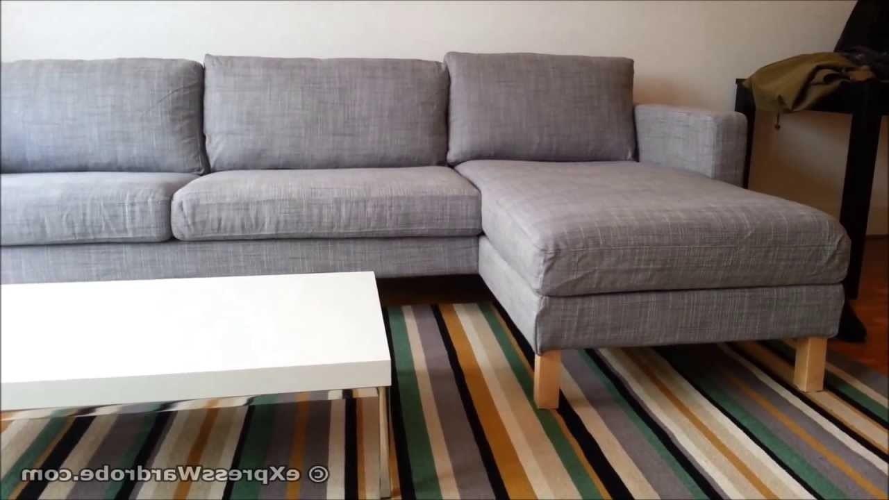 Ikea Chaise Couches With Regard To 2018 Ikea Karlstad Sofa And Chaise Longue Design – Youtube (Gallery 9 of 15)