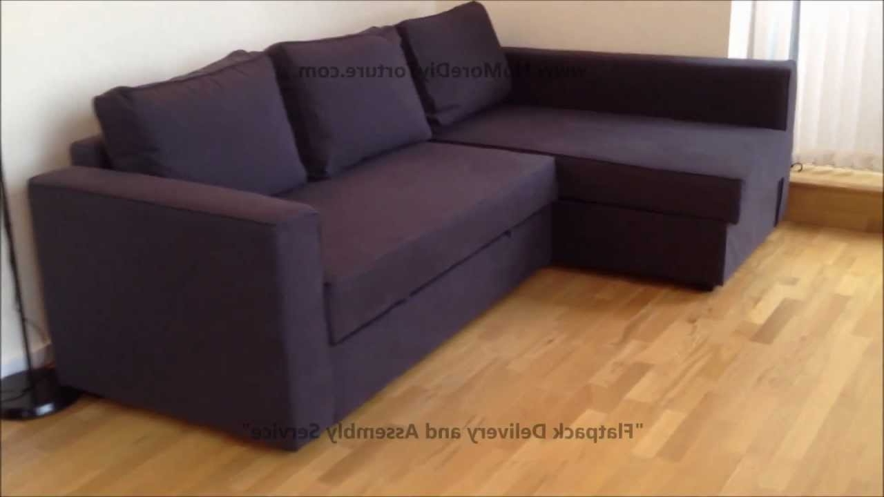 Ikea Chaise Couches With Widely Used Ikea Manstad Corner Sofa Bed With Storage – Youtube (Gallery 13 of 15)